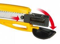 Stanley műanyagházas fémmegvezetéses kés 18mm   3 penge (0-10-403)