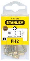 Stanley Behajtóhegy extrakemény Ph2 6db (1-13-689)