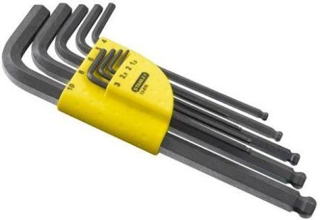 Imbuszkulcs készlet hosszú gömbfejjel 1,5-10mm 9db  1-13-976