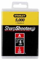 """Stanley Tűzőkapocs """"A"""" 6mm (3/53/530) 5000db (1-TRA204-5T)"""