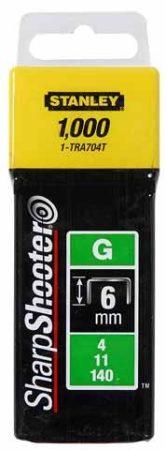 """Stanley Tűzőkapocs """"G"""" 6mm (4/11/140) 1000db (1-TRA704T)"""