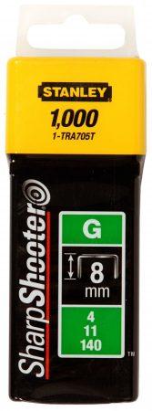 """Stanley Tűzőkapocs """"G"""" 8mm (4/11/140) 1000db (1-TRA705T)"""