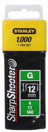 """Stanley Tűzőkapocs """"G"""" 12mm (4/11/140) 1000db (1-TRA708T)"""