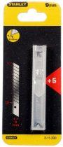 Tördelhető penge 9mm műanyag tartóban 5db  2-11-300
