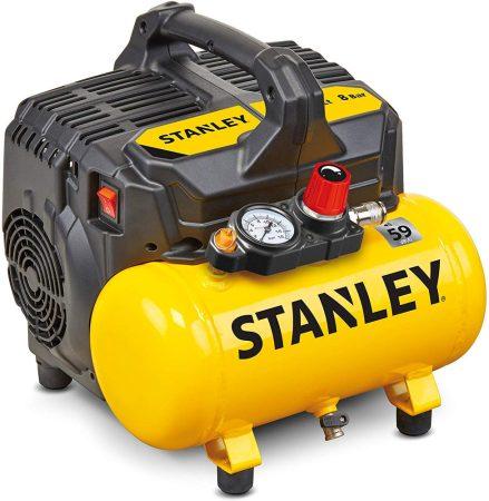 Stanley csendes kompresszor 8 bar 6 liter 59 Db (DST100/8/6) ÁTMENETI KÉSZLETHIÁNY!!!
