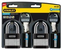 Stanley Rétegelt testű biztonsági lakat, 50mm 2db (S742-006)