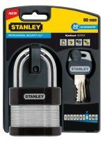 Stanley Rétegelt testű biztonsági lakat, hosszított kengyellel 60mm (S742-007)