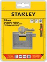 Stanley Páncélozott tömör sárgaréz lakat 60mm (S742-022)