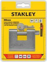 Stanley Páncélozott tömör sárgaréz lakat 80mm (S742-023)