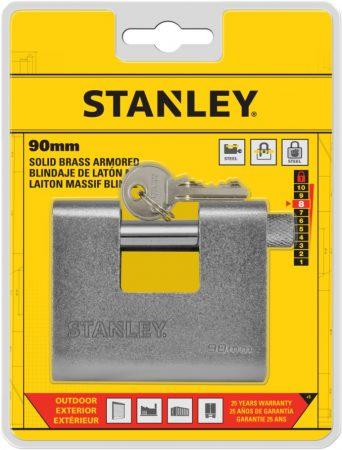 Stanley Páncélozott tömör sárgaréz lakat 90mm (S742-024)