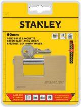 Stanley Négyszögletes, tömör sárgaréz U-lakat, 90mm (S742-027)