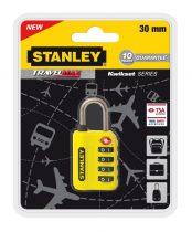 Stanley 4 számjegyű TSA lakat (S742-059)