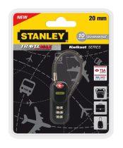 Stanley 3 számjegyű TSA lakat sodronnyal (S742-060)