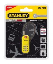 Stanley 3 számjegyű TSA lakat sodronnyal (S742-061)