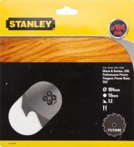 Stanley Körfűrészlap TCT 184×16mm 12T