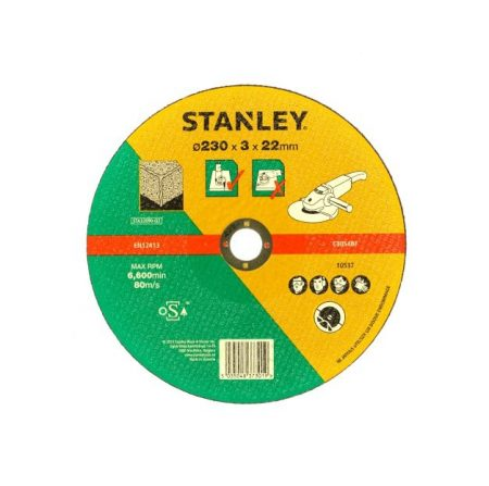 Stanley kőzetvágó tárcsa 230x22x3.2mm