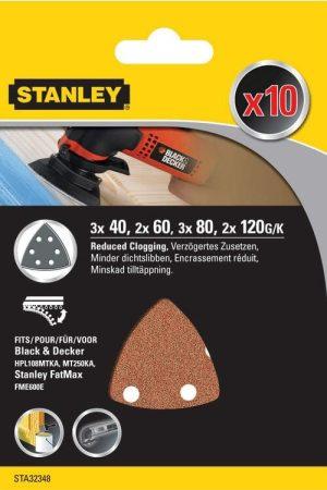 Stanley Delta csiszolópapír 10x 40 / 60 / 80 / 120g  (STA32348-XJ)