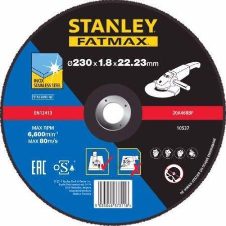Stanley Fatmax inoxvágó tárcsa 230×1,8×22mm (STA32692)