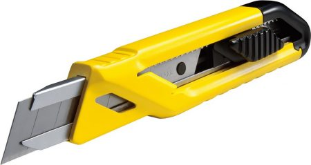 Tördelhető pengéjű kés, 18 mm, 3 db tartalék pengével (STHT10265-0)