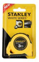 Stanley White gumírozott mérőszalag 3m×13mm (STHT30130-8) KIFUTÓ