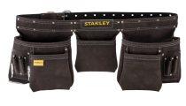 Stanley bőr dupla szerszámos övtáska  STST1-80113