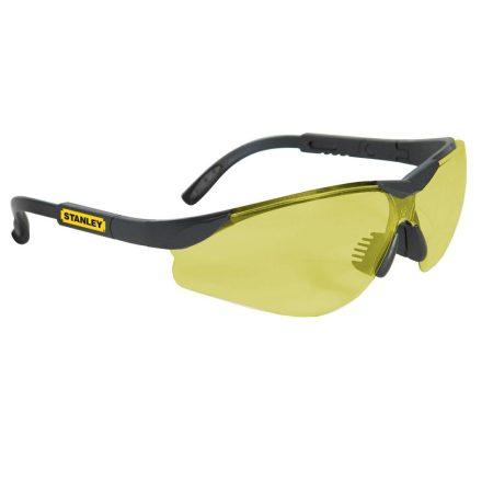 Stanley Keretnélküli védőszemüveg, sárga lencsével (SY140-4D)